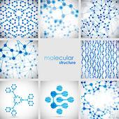 Set of beautiful structure DNA molecule
