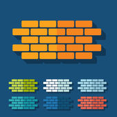 Flat design: brick