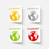 realistic design element: passport