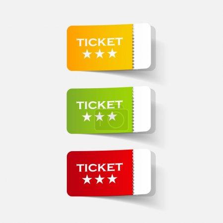 realistic design element: ticket