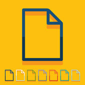 Flat design: paper