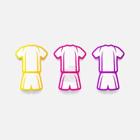 Realistic design element: Football clothing sticke...