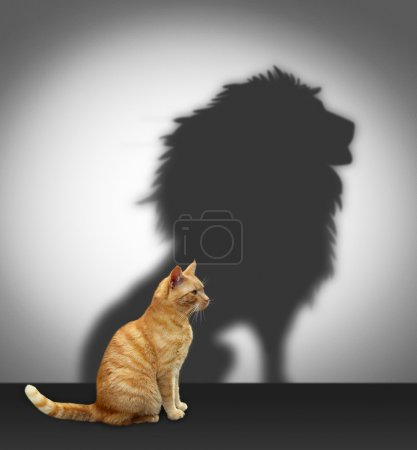 Cat with lion shadow...
