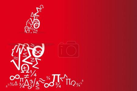 Photo pour Cartes de vœux rouges et carte d'invitation diplôme de science - image libre de droit