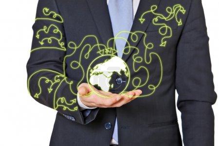 Foto de Concepto de pullotion con las flechas verdes - Imagen libre de derechos