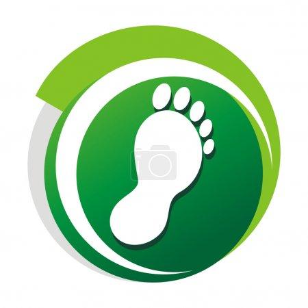 podiatrist green vector logo