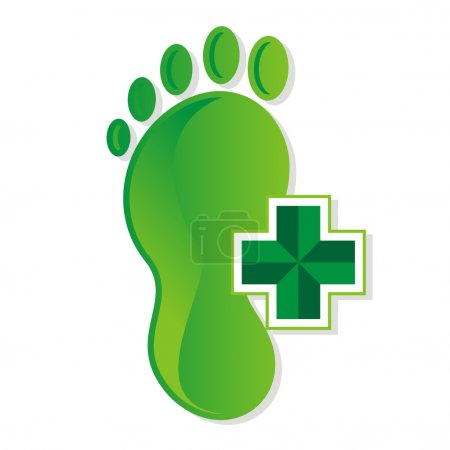 podiatrist foot medical vector logo