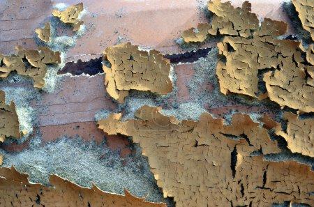 Photo pour Peinture séchée sur une surface métallique - image libre de droit