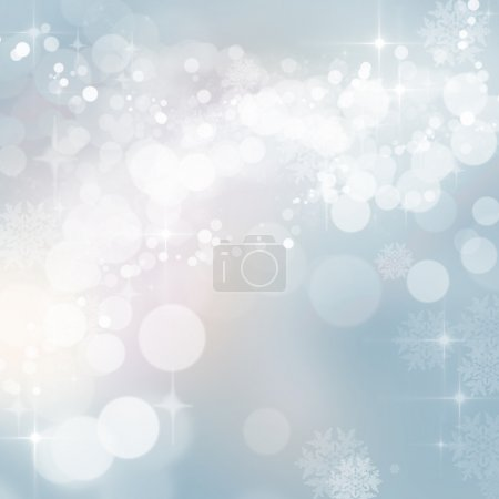 Twinkling Christmas winter party bokeh lights background