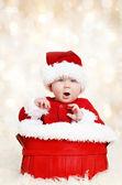 Happy santa vánoční baby