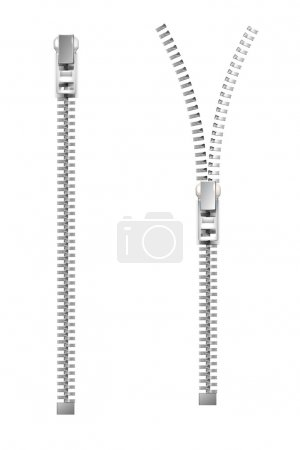 Zipper. Vector illustration