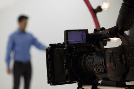 Gros plan de la caméra