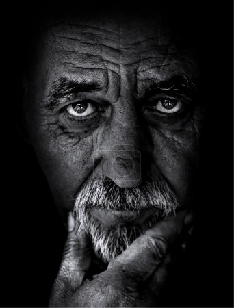 Photo for Old man close up - Royalty Free Image