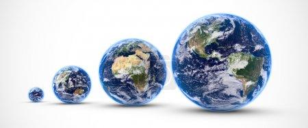 Multi earths isolated