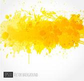 Background with big yellow splash