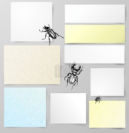 Paper objects with bugs.