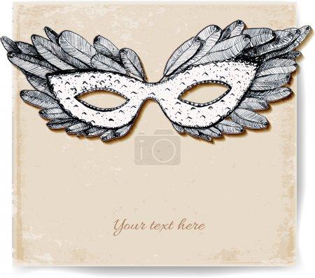 festive venetian mask.