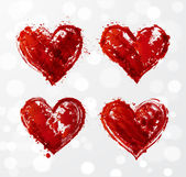 Grunge heart collection Vector illustration