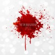 Grunge background with bright red splash. Vector i...
