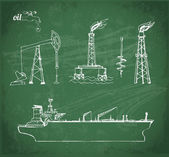 Sketches of oil industry