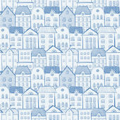 Seamless background with city and lots of houses This endless pattern Can be used for wallpaper pattern fills textile web page background surface textures