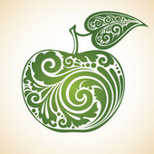 Decorated green apple