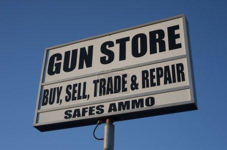 Gun store advertising