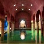 Arab Baths in Granada, Andalusia, Spain...