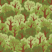 Seamless pattern with green deciduous forest