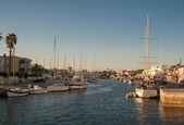 Yachts and Boats in La Manga port.