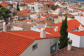 Red roofs and white houses