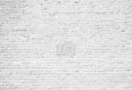 Foto de Fondo de pared de ladrillo blanco grunge - Imagen libre de derechos