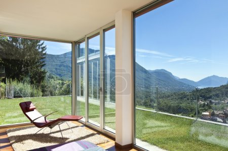Photo for Beautiful house, modern style, room view with a chair - Royalty Free Image