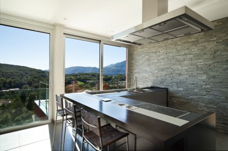 Photo for Beautiful house, modern style, kitchen - Royalty Free Image