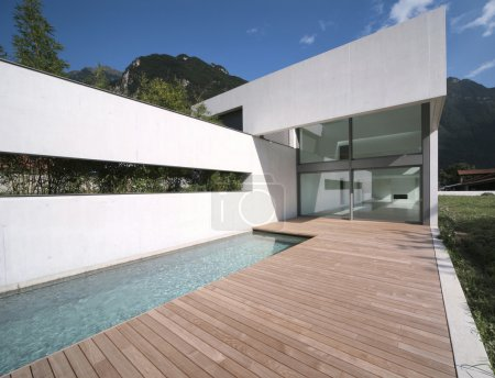 Photo for Modern house with nice pool - Royalty Free Image