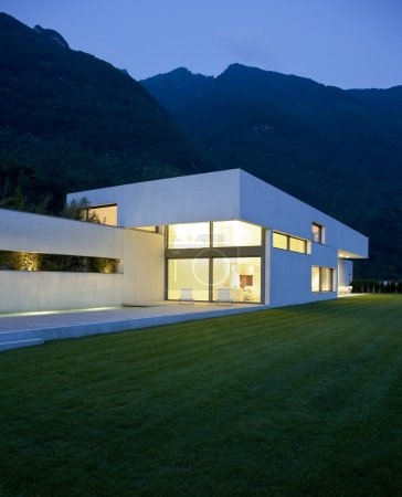 Photo for Exterior, modern house with big garden - Royalty Free Image
