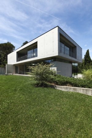 Modern house design in beton