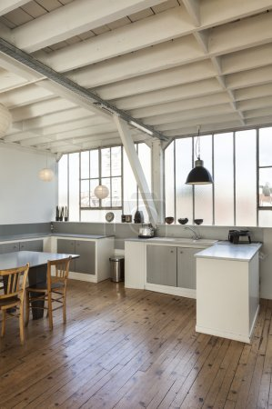 Photo for Interior, beautiful kitchen of a old loft - Royalty Free Image