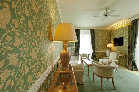 Foto de Apartamento de lujo interior, confortable suite, salón - Imagen libre de derechos