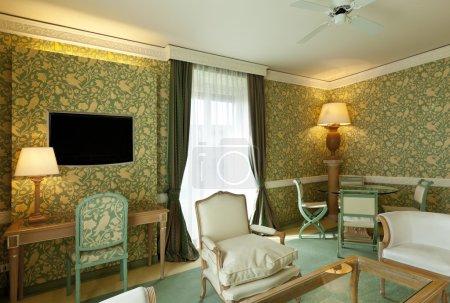 Photo pour Appartement de luxe intérieur, costume confortable, salon - image libre de droit