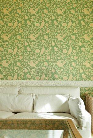 Interior luxury apartment, comfortable suite, detail divan