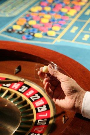 Roulette in casino...