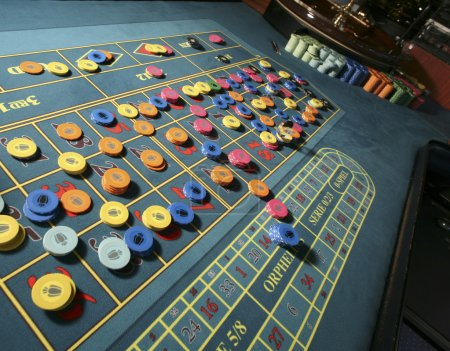 Table for roulette casino