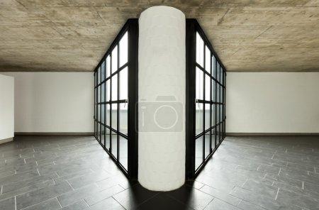 interior moderna villa vacía