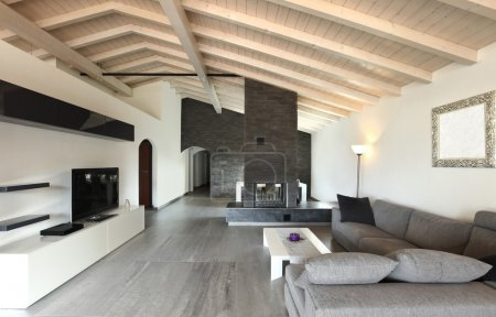 Photo for Modern architecture contemporary, interior, large livingroom - Royalty Free Image