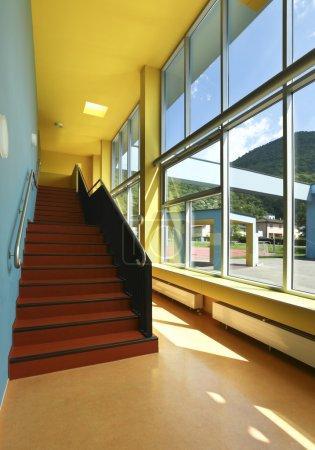 Public school, staircase and corridor