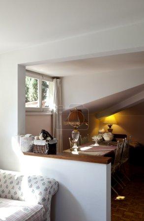 Loft furnished, living room