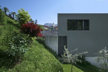 Photo for Modern house surrounded by nature - Royalty Free Image