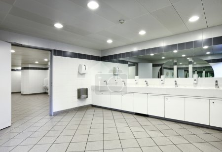 Interior of a Congress Palace, public toilets...