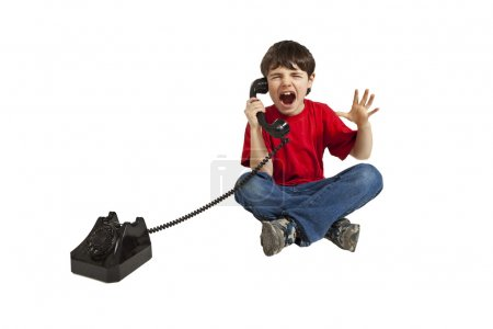 Little boy, phone